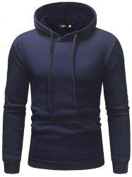 Fleece Casual Sweater Solid Color Hoodie -