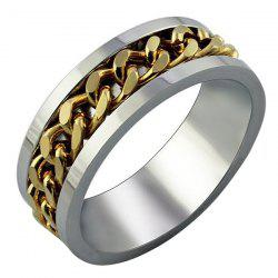 Simple and Personality Gold Chain Ring -