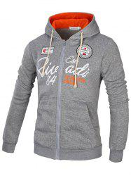 Young Men's Letter Print Hoodie -
