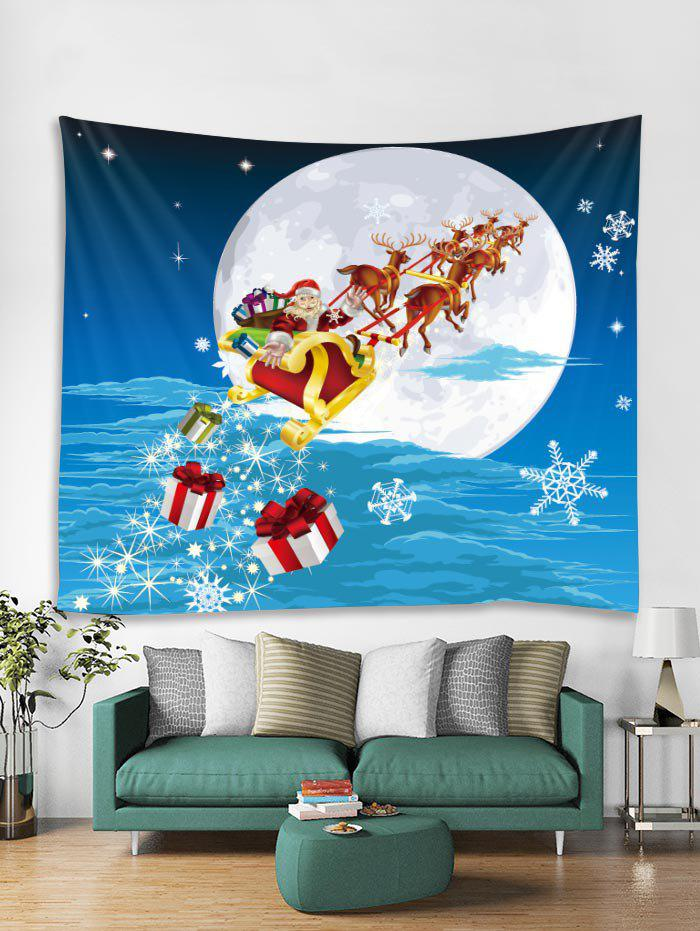 Store Christmas Santa Claus Print Tapestry Wall Hanging Art Decoration