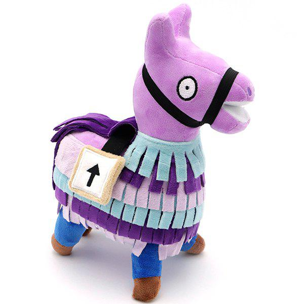 Llama Plush Doll Stuffed Toy Pourpre  20CM
