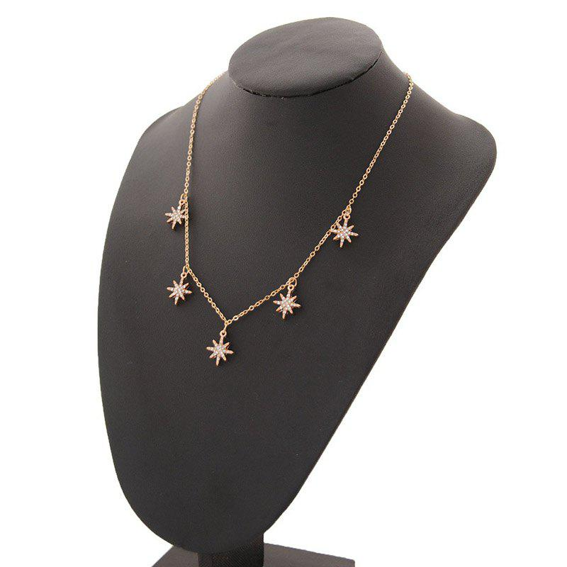 Affordable Simple Flash Drill Eight-pointed Star Clavicle Chain