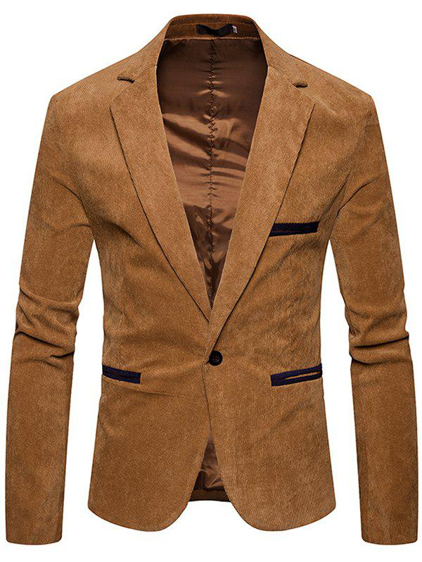 Store Fashion  Corduroy Color Casual Small Suit Jacket
