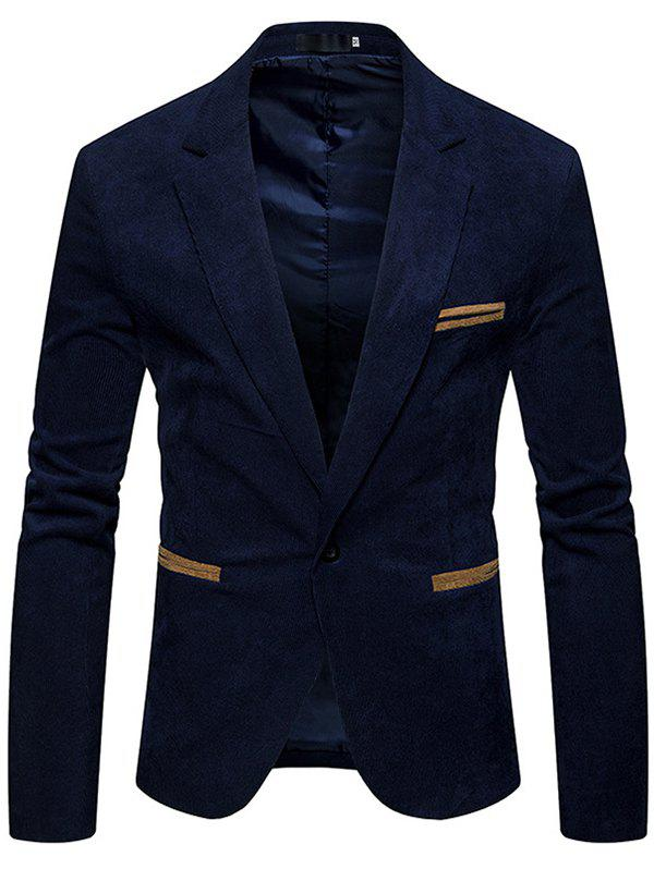 Best Fashion  Corduroy Color Casual Small Suit Jacket