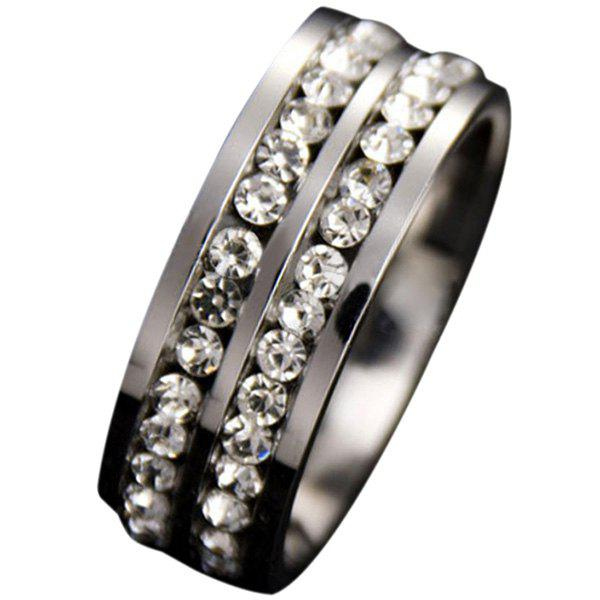 Outfits Simple Double Row Diamond Ring