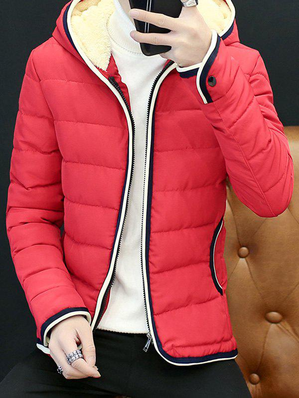 Trendy Couple'S Warm Downs Jacket Casual Thick Cotton Hat Can Be Down Parka Coat  Outdoor Sport Hooded