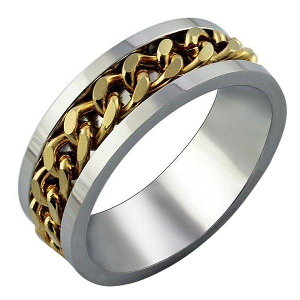 Fancy Simple and Personality Gold Chain Ring