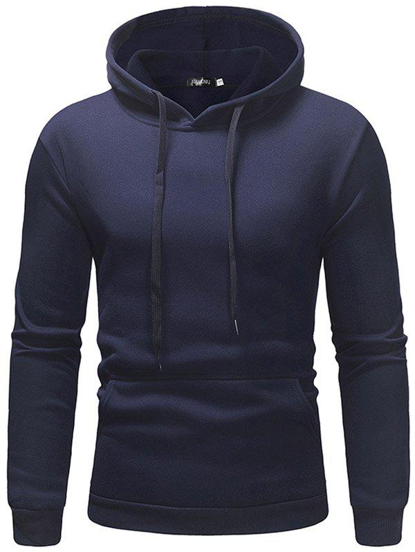 Chic Fleece Casual Sweater Solid Color Hoodie