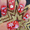 Autocollant Fashion Christmas Nail - Rouge Lave