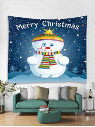 Funny Christmas Snowman Tapestry Art Decoration -