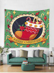 Merry Christmas Candy Cane Stocking Tapestry Art Decoration -