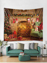 Christmas Gift Stocking Printed Tapestry Art Decoration -