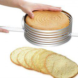 Thick Round Stainless Steel Mousse Ring Adjustable Telescopic Cake Layering Divider -