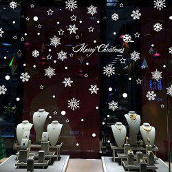 Christmas Snowflake Beautiful Romantic Creative Glass Window Background Decorative Wall Sticker -