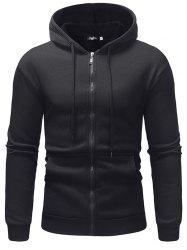 Fleece Casual Sweater Solid Color Zipper Ou Code Sports Hoodie -