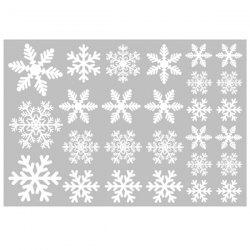 Christmas Decoration White Snowflake Window Sticker -