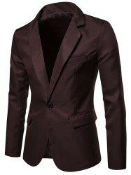 X09 Autumn Men Suit Simple Solid Color One Button Jacket -