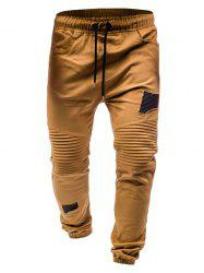 Pleated Rag Stitching Tether Men Casual Trouser -