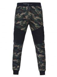 Camouflage Stitching Men Casual Slim Sports Trouser -