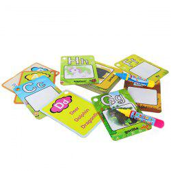 Children Environmentally Friendly Reusable Painted Board Letters Coloring Book -