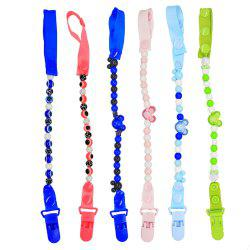 Baby Pacifier Clip Chain 6 Style New Baby Pacifier Clips Newborn Dummy Pacifier Chain Clip Holder Baby Christmas Gift -