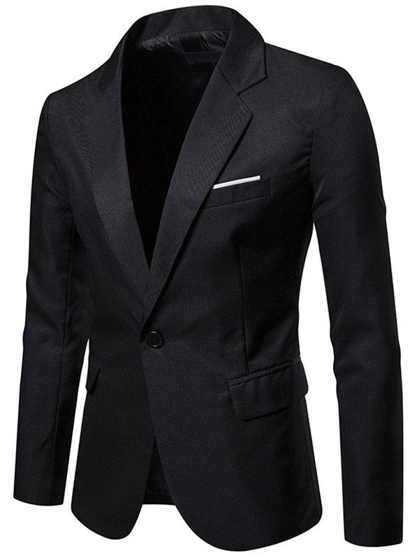 Shops X09 Autumn Men Suit Simple Solid Color One Button Jacket