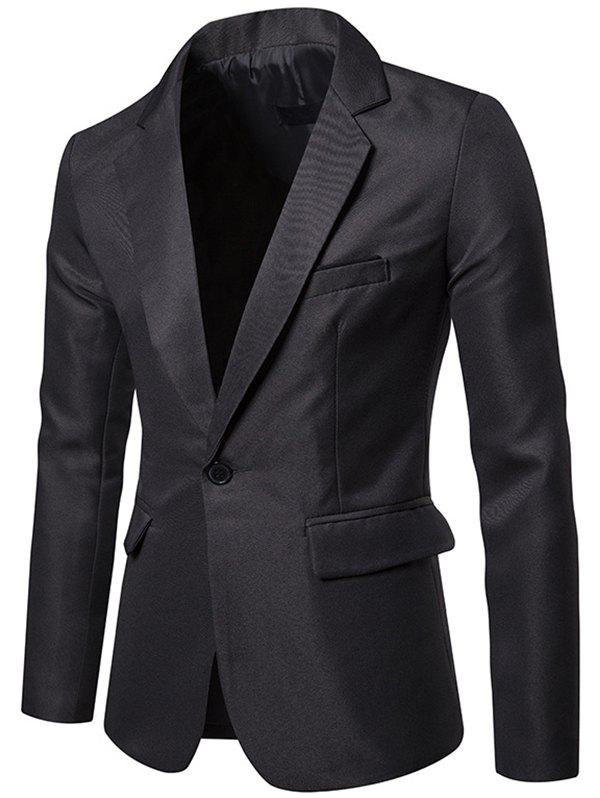 Hot X09 Autumn Men Suit Simple Solid Color One Button Jacket
