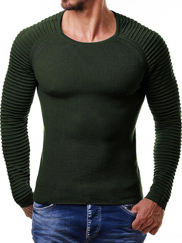 Best Men Pullover Ribbed Stripe Knit Sweater