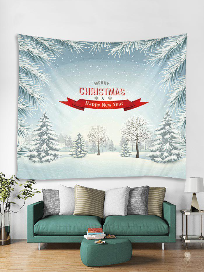 New Merry Christmas Snow Printed Tapestry Art Decoration