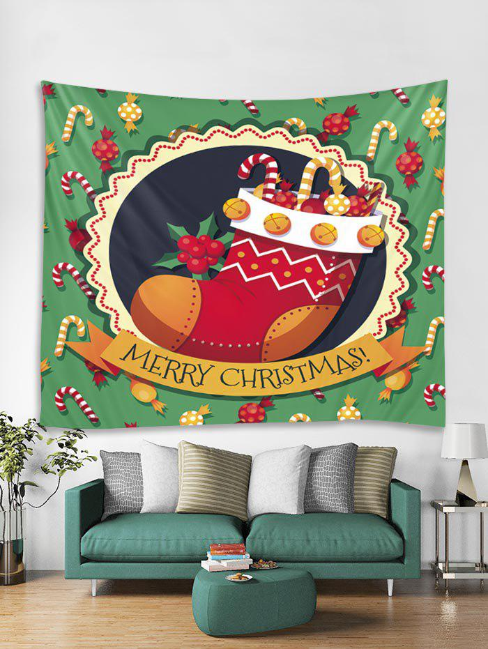 Shop Merry Christmas Candy Cane Stocking Tapestry Art Decoration