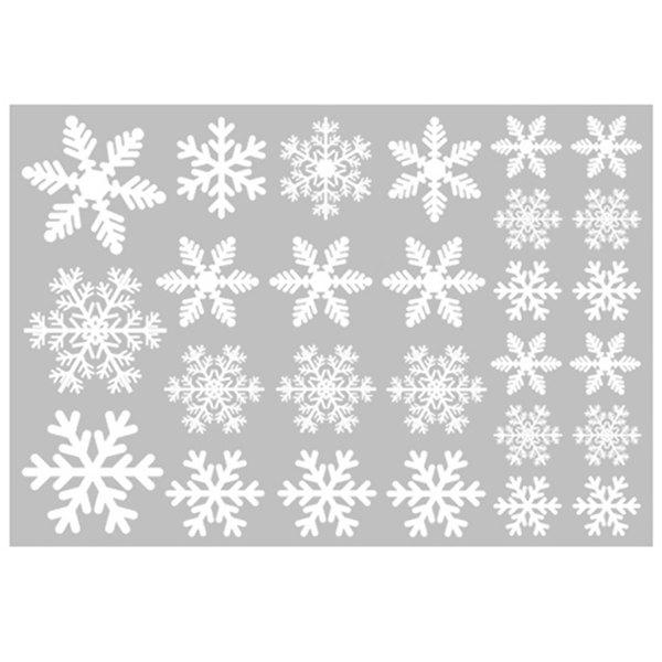 Best Christmas Decoration White Snowflake Window Sticker