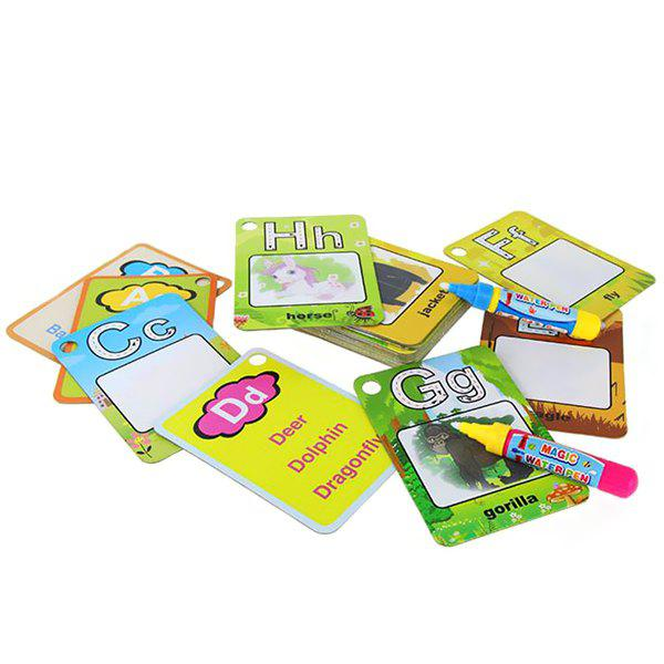 Outfits Children Environmentally Friendly Reusable Painted Board Letters Coloring Book