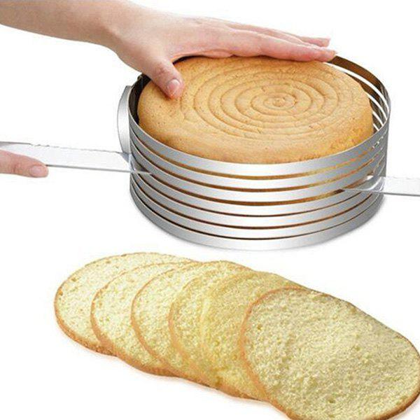 Fancy Thick Round Stainless Steel Mousse Ring Adjustable Telescopic Cake Layering Divider