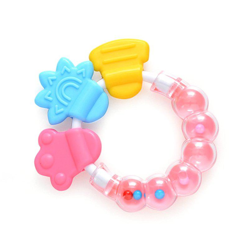 Outfit Bell Baby Teether Molar Stick Baby Rattle Silicone Bite Teether
