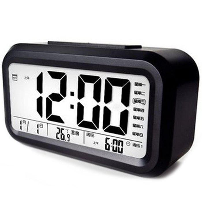 Outfits Voice Clock Big Screen Sensitive Smart Alarm Clock Work Day Bed Electronic Clock