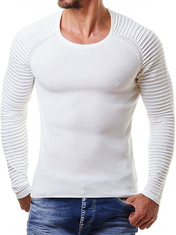 Buy Men Pullover Ribbed Stripe Knit Sweater