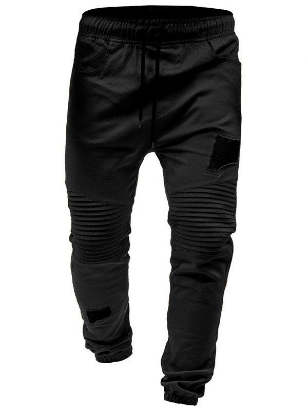 Shops Pleated Rag Stitching Tether Men Casual Trouser