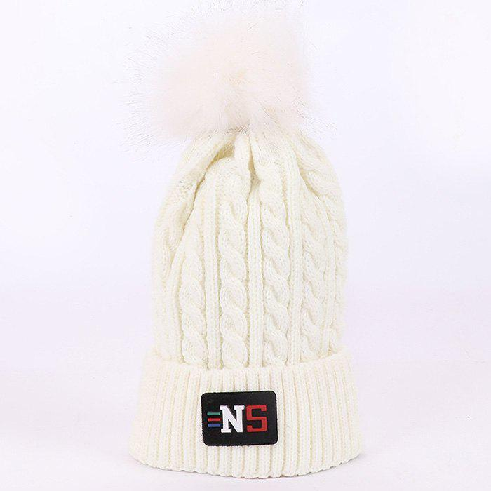 New High-top Velvet Wool Knit Hat for Autumn and Winter