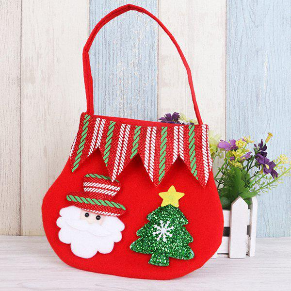 Unique Christmas Supplies Color Tote Bag Apple Gift Bag Child Snowman Small Gift Candy Tote Bag