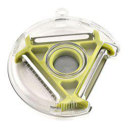 Multi-function Melon Planing Rotary Round Three-head Peeler Multi-function Three-in-one Grater -