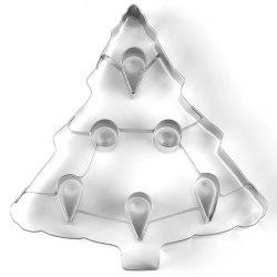 Stainless Steel Large 3D Christmas Tree Stereo Cookie Mold -