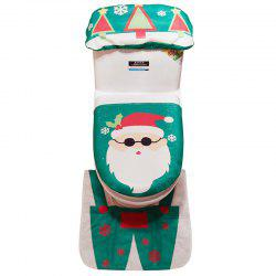Creative Christmas Santa Claus Toilet Set for Home Decoration -