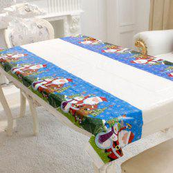 Merry Christmas Rectangular Tablecloth Kitchen Dining Table Cover -