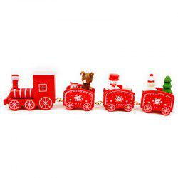 Christmas Train Decorations Wooden Trains Birthday Gifts -