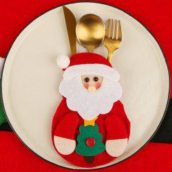 Christmas Decoration Knife Fork Set Bag -