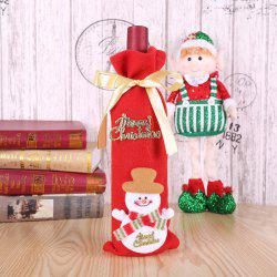 Christmas Decoration Bunch Wine Bottle Cover Bag -