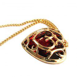 Heart-shaped Crystal Necklace -