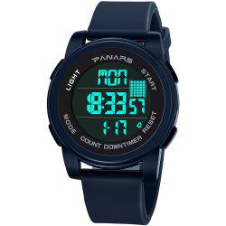 PANARS 8100 Waterproof Two Time Time Perpetual Calendar Fashion Sports Multi-function Electronic Watch with Box -