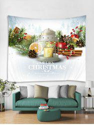 Merry Christmas Candle Printed Tapestry Art Decoration -