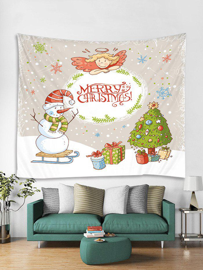 Fancy Christmas Tree Snowman Angel Tapestry Art Decoration